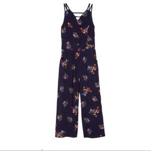 Zunie Floral Print Jumpsuit Big Girls 12